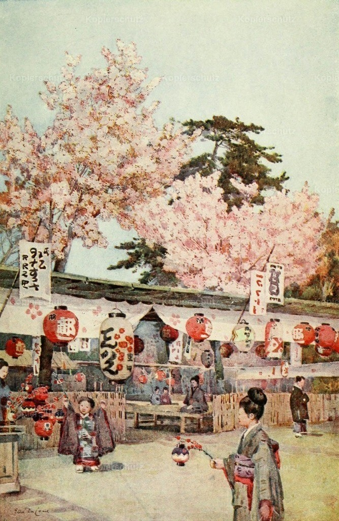 Du Cane_ Ella (1874-1943) - Flowers _ Gardens of Japan 1908 - Feast of the cherry blossoms
