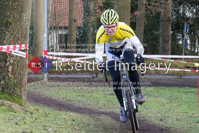 Radsport, Stevens Cyclocross Cup 2019, 10. Lauf (RSG Nordheide), Rennen 9 (Elite Herren + U23, Masters 2 / Elite Ü40 und Junioren U19), Buchholz i.d.N., 19.01.2020   Sven Lorenzen (RV Concordia Hannover, #177, Masters 2)