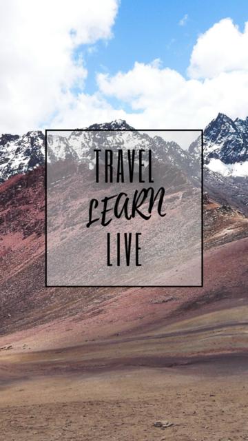 Smartphone Wallpaper Vorlage_Travel Learn Live