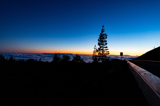 Hoch über den Wolken | Der Teide Nationalpark auf Teneriffa liegt auf auf über 2'000m. Da kommt es schon mal vor, dass man sich über der Wolkengrenze befindet.