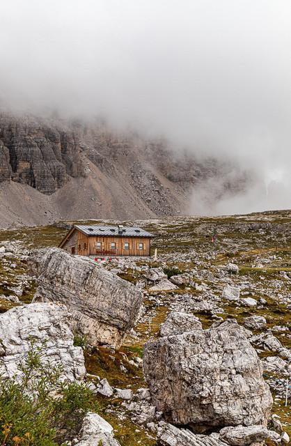 Die Hütte | Refogio Lavaredo auf dem Rundweg um die Drei Zinnen