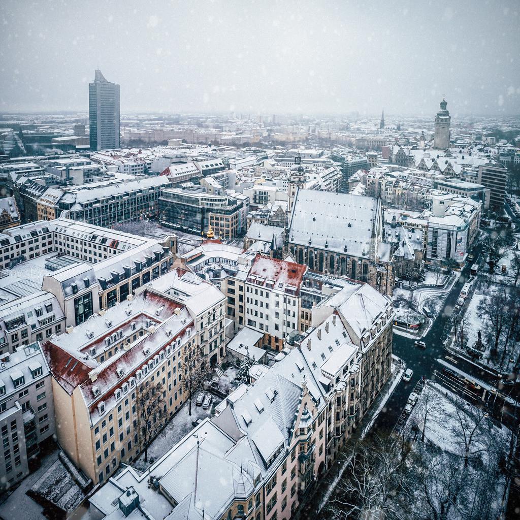 Leipzig Schnee City