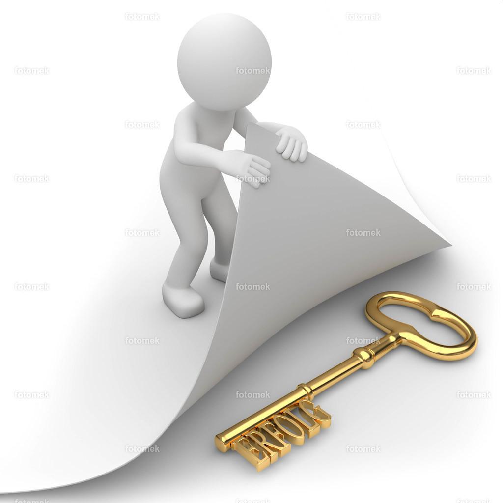 3d Männchen Schlüssel zum Erfolg