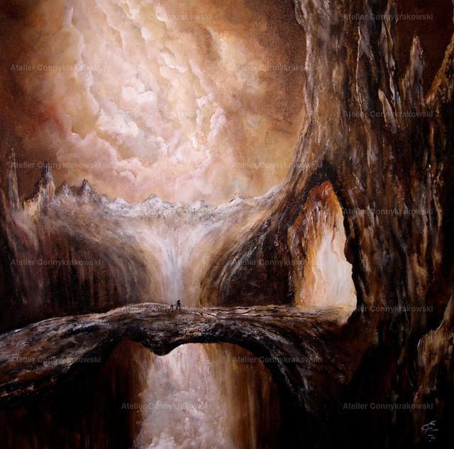Der Gang in die Höhle 4000x300_bearbeitet-1 | Phantastischer Realismus aus dem Atelier Conny Krakowski. Verkäuflich als Poster, Leinwanddruck und vieles mehr.