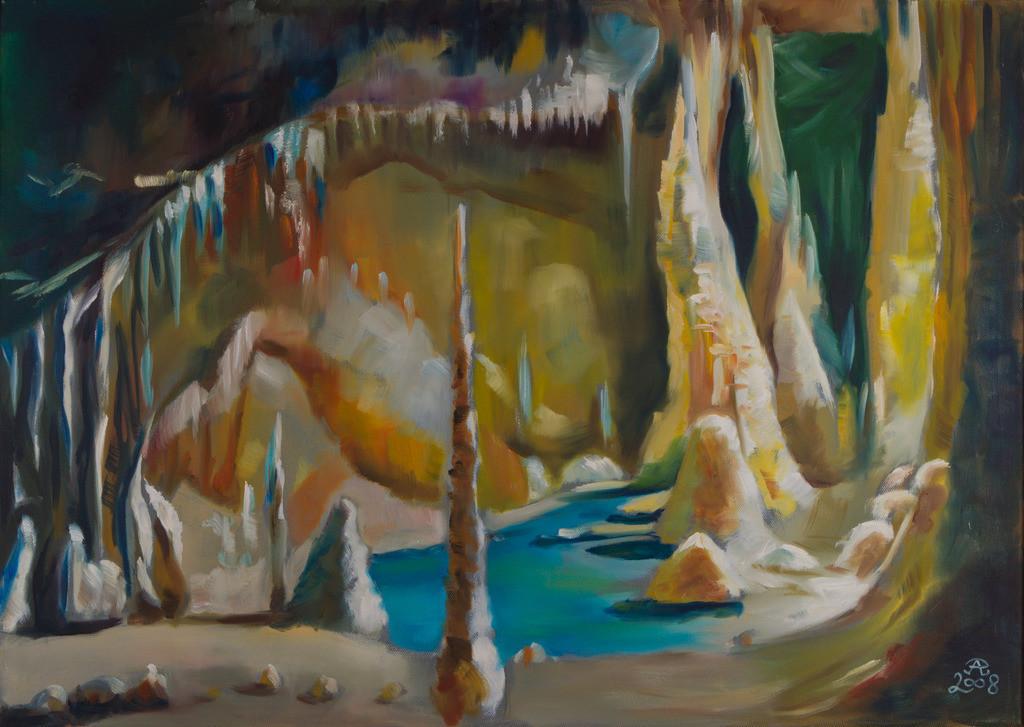 Grotta di Frasassi - Saal des Windes | Originalformat: 50x70cm  -   Produktionsjahr: 2008