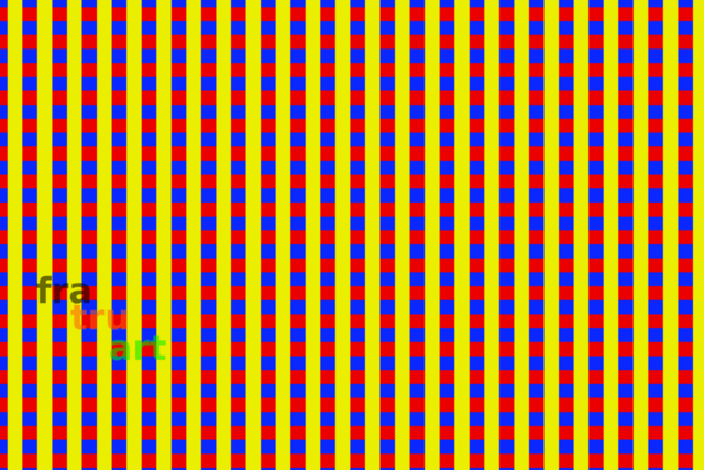 rot gelb blaue quadrate   Grafik