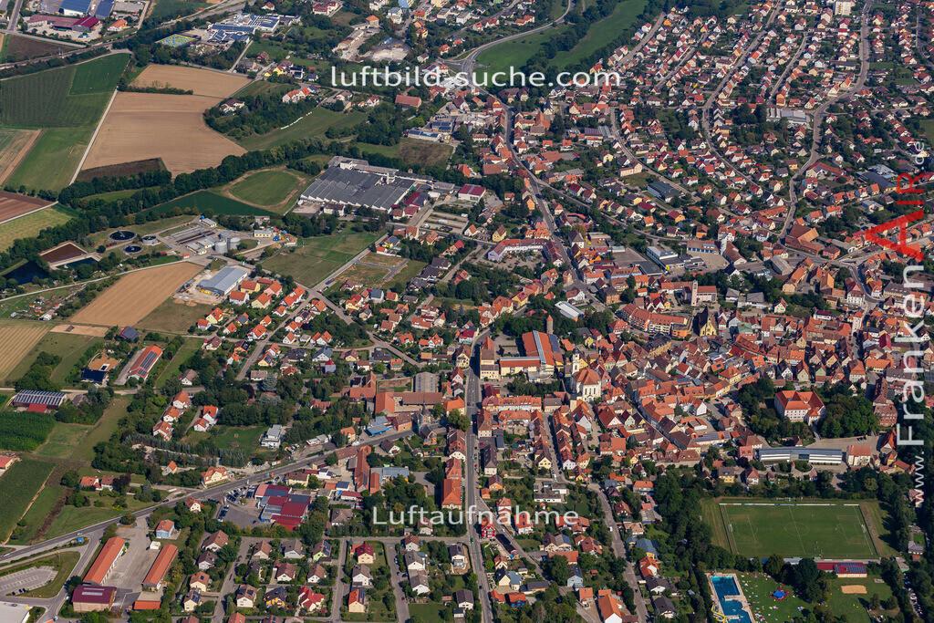 uffenheim-19-736 | aktuelles Luftbild von  Uffenheim - Luftaufnahme wurde 2019 von https://frankenair.de mittels Flugzeug (keine Drohne) erstellt.