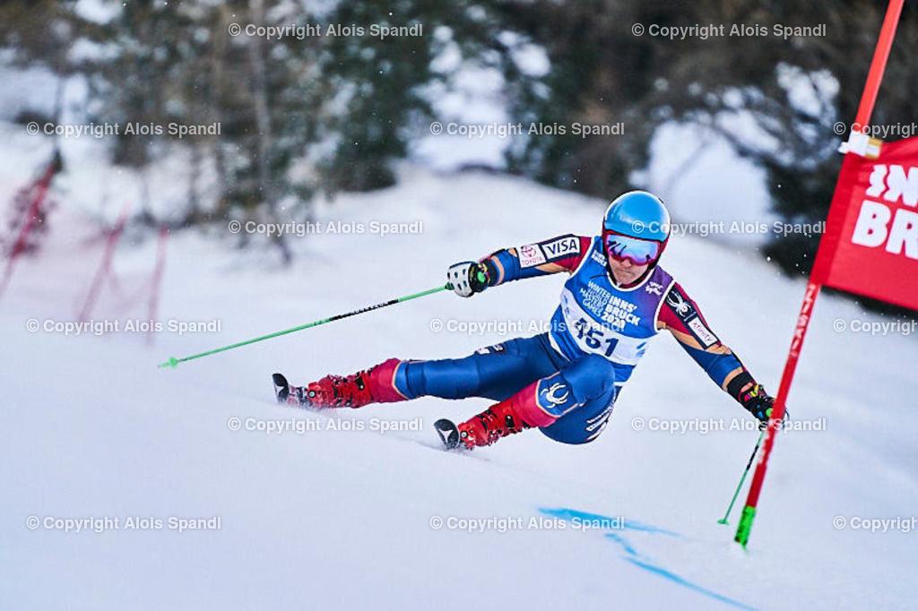 ALS5929_WWMG_GS-II_C | (C) FotoLois.com, Alois Spandl, WinterWorldMastersGames 2020 Innsbruck, Giant Slalom-II Gruppe C Damen, Patscherkofel Olympiaabfahrt, Mi 15. Jänner 2020.