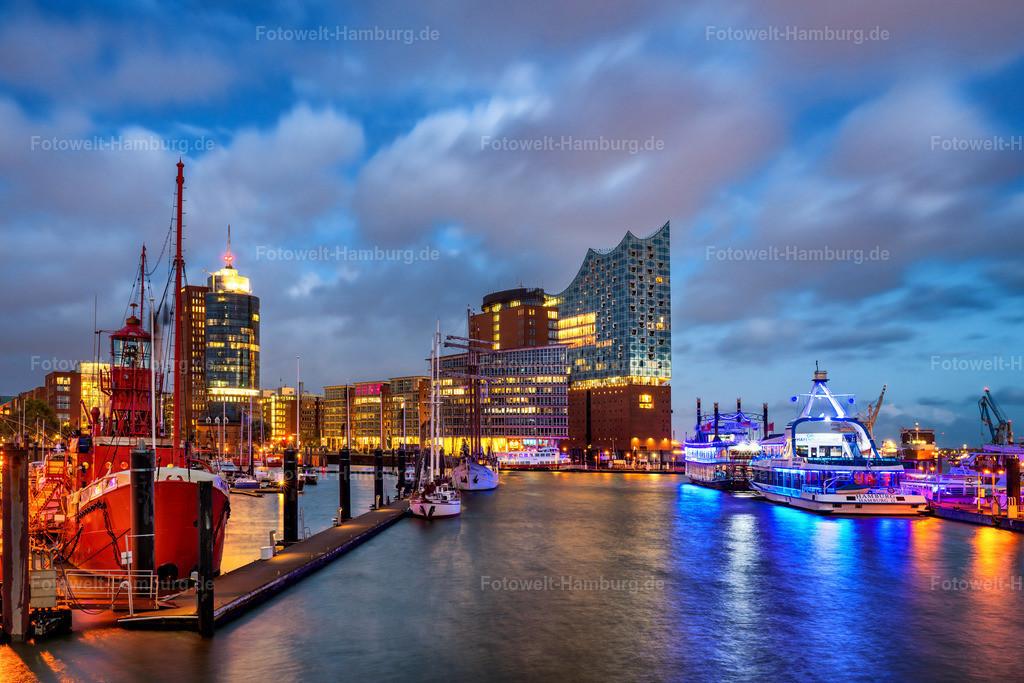 10201012 - Blauer Abend an der Elbphilharmonie   Schöner Blick über den Niederhafen auf die Elbphilharmonie zur blauen Stunde.