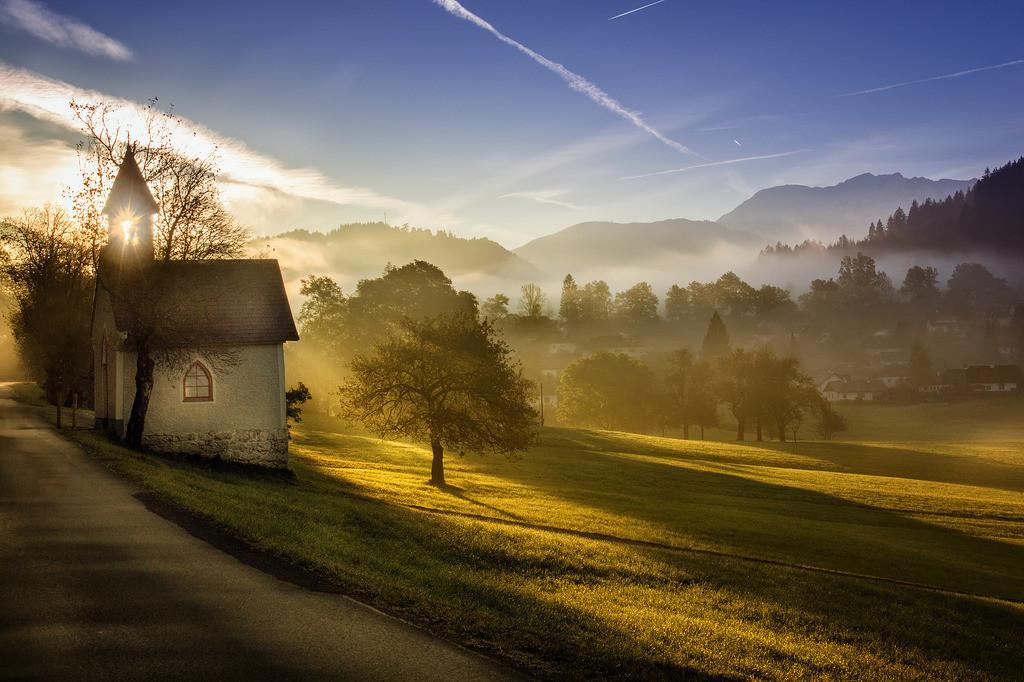 Kapelle im Morgenlicht | Rading Roßleithen