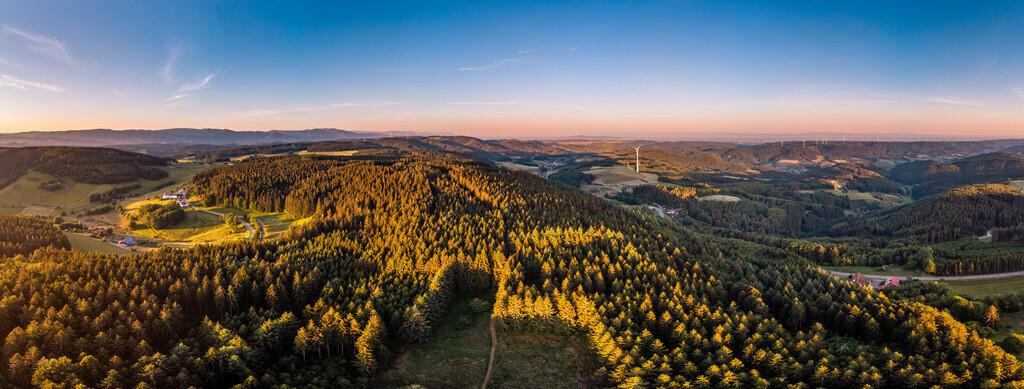 Geisberg-Panorama | Panoramablick über den Geisberg im Schuttertal