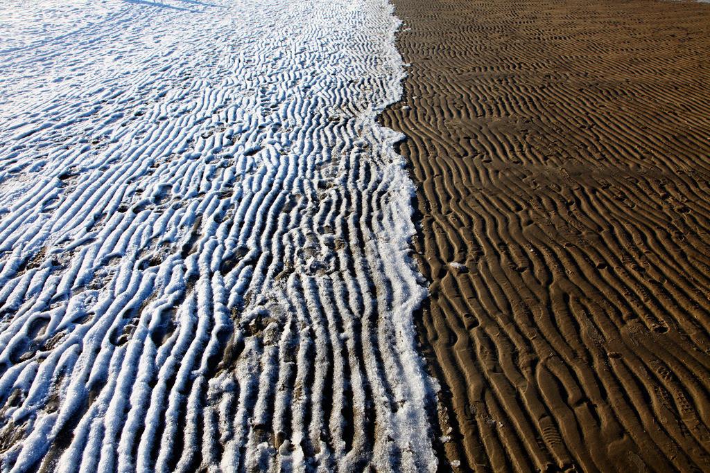 Winter an der Nordsee | Winter im Nordsee Wattenmeer, gefrorenes Watt, Schnee, Eis.