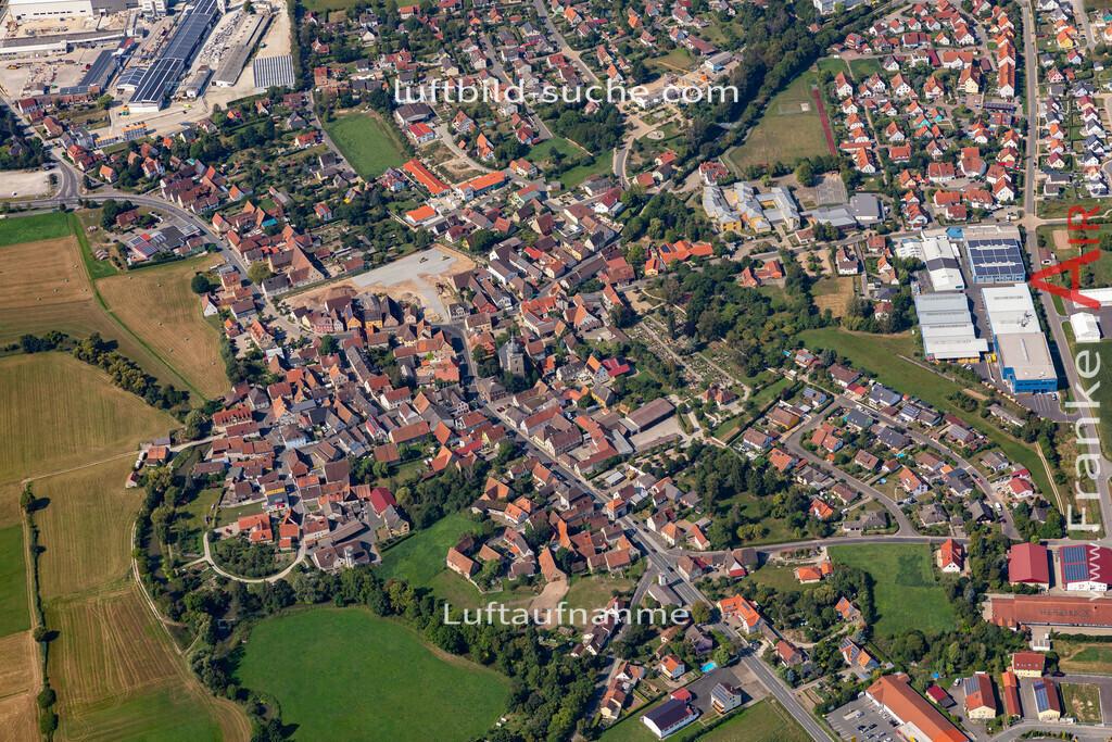 uehlfeld-19-567   aktuelles Luftbild von Uehlfeld   - Luftaufnahme wurde 2019 von https://frankenair.de mittels Flugzeug (keine Drohne) erstellt.