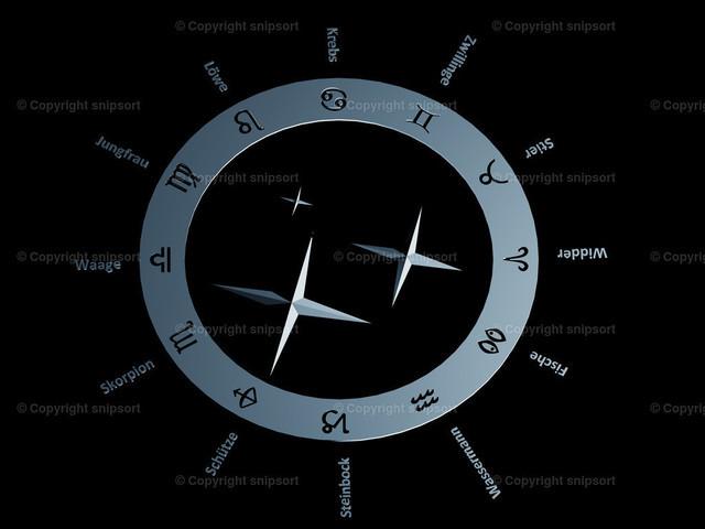 Zodiak (3D Rendering) | Der Zodiak mit den zwölf Tierkreiszeichen