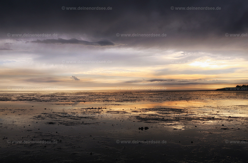 kurz nach Sonnenuntergang - Nordstrand