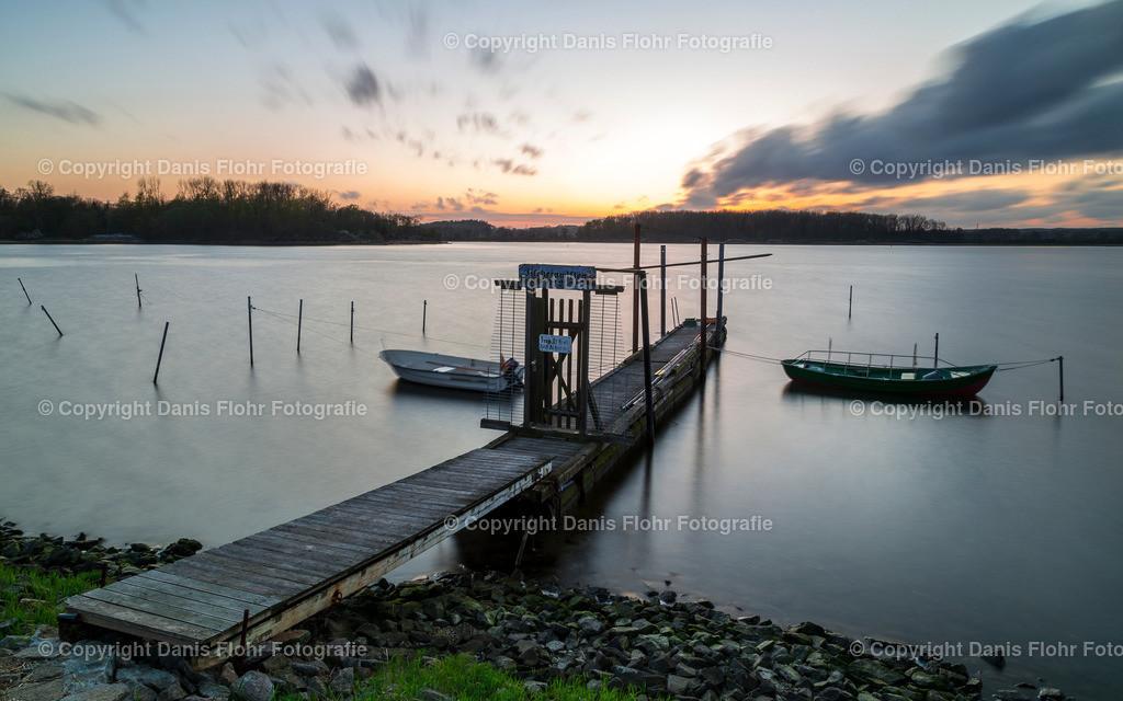 Neustadt Binnengewässer im Sonnenuntergang | Das Neustädter Binnengewässer im Sonnenuntergang
