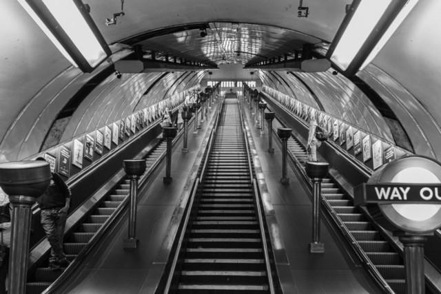 London U-Bahn Aufgang