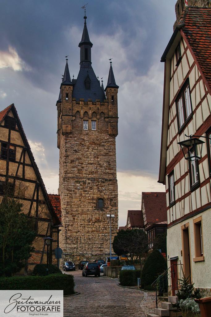 Blauer Turm | Der 'Blaue Turm' in Bad Wimpfen vom Burgviertel aus.