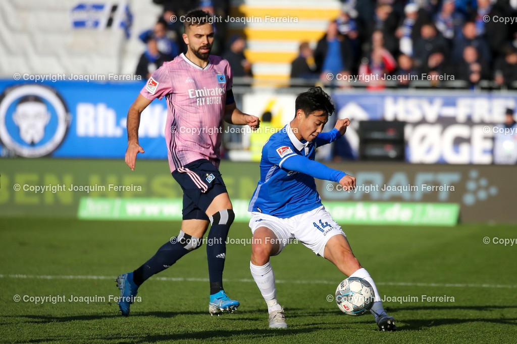 191221svdvshsv_0509 | 21.12.2019 Fussball 2.Bundesliga, SV Darmstadt 98-Hamburger SV emspor, despor  v.l.,  Lukas Hinterseer (Hamburger SV), Seung-ho Paik (SV Darmstadt 98), Zweikampf, Action, Aktion, Battles for the Ball    (DFL/DFB REGULATIONS PROHIBIT ANY USE OF PHOTOGRAPHS as IMAGE SEQUENCES and/or QUASI-VIDEO)