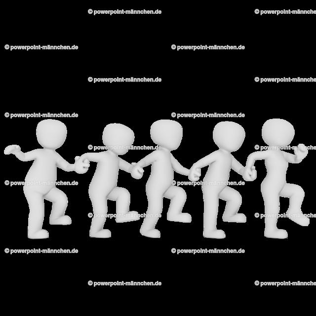 dancing in a row