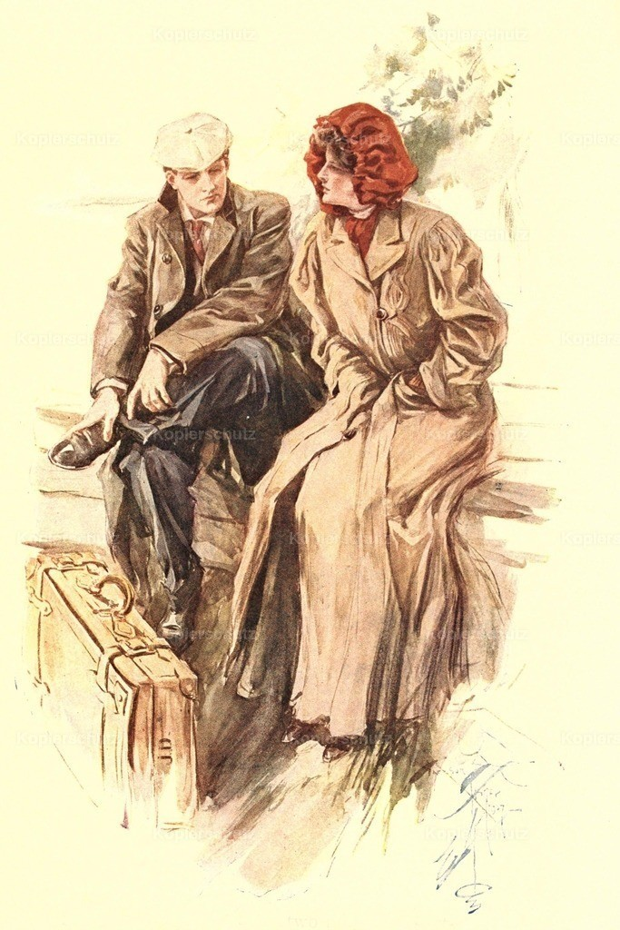Fisher_ Harrison (1875-1934) - The Flyers 1907 - Waiting with suitcase
