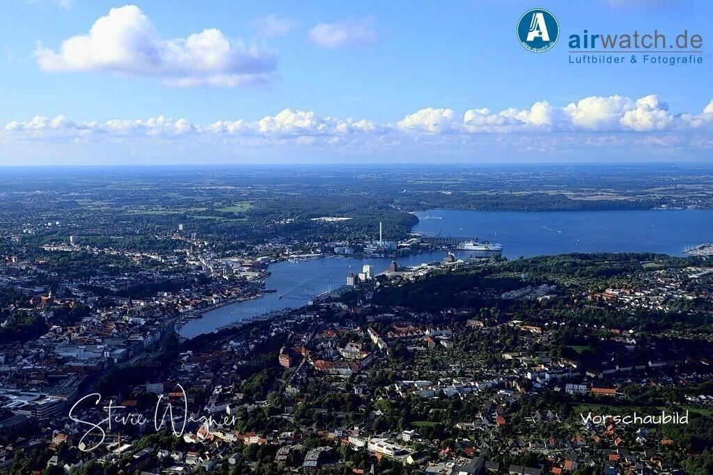 Luftbild Flensburg, Blick auf Flensburg Juergensby von Höhe Europa Universitaet | Flensburg, Blick auf Flensburg Juergensby von Höhe Europa Universitaet • max. 6240 x 4160 pix