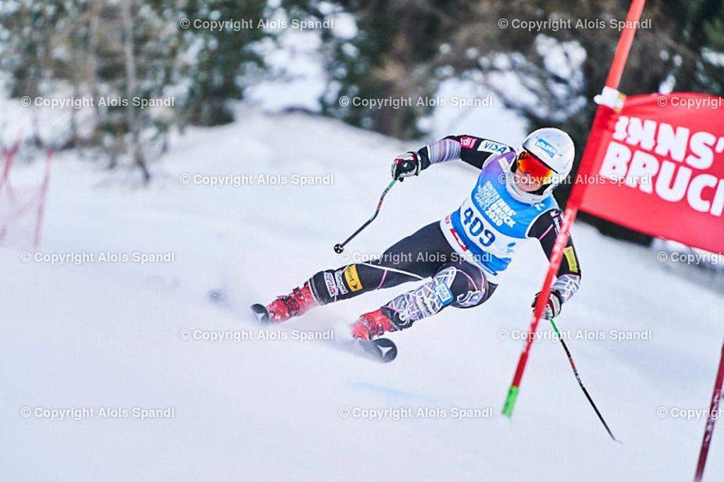 ALS5720_WWMG_GS-II_C   (C) FotoLois.com, Alois Spandl, WinterWorldMastersGames 2020 Innsbruck, Giant Slalom-II Gruppe C Damen, Patscherkofel Olympiaabfahrt, Mi 15. Jänner 2020.