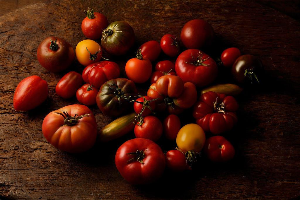 Alte Tomatensorten | Foodfoto mit verschiedenen Tomaten alter Sorten