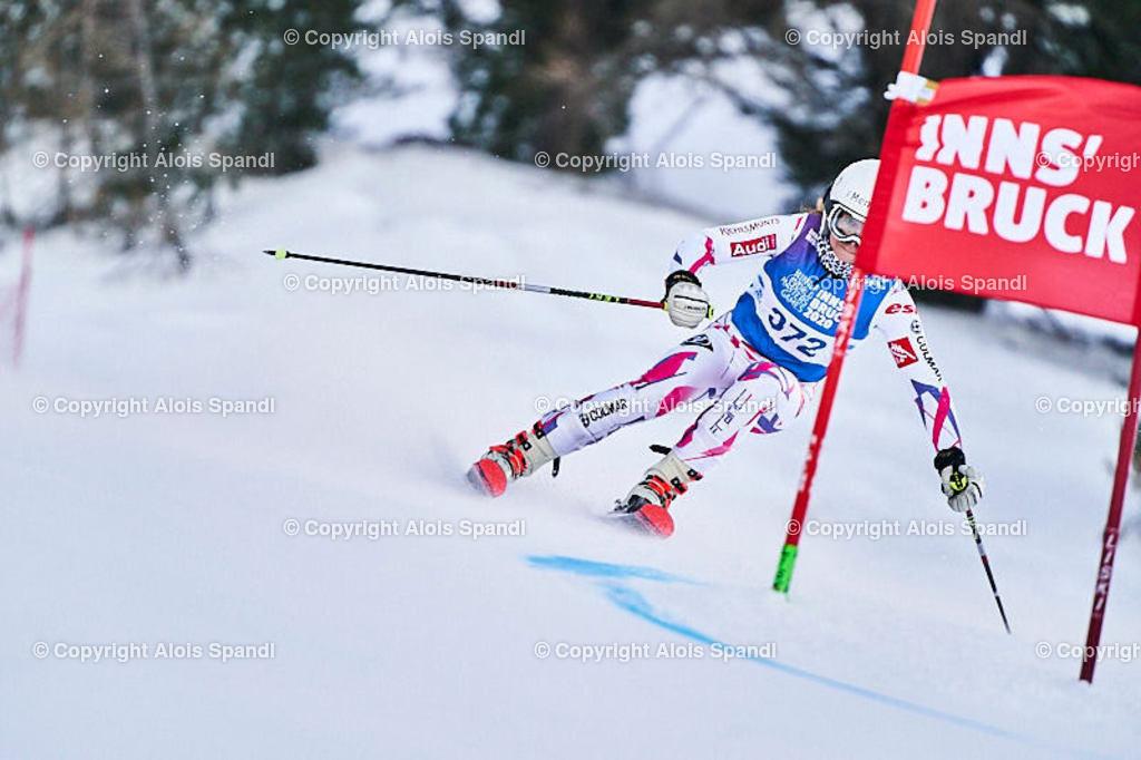 ALS5513_WWMG_GS-II_C | (C) FotoLois.com, Alois Spandl, WinterWorldMastersGames 2020 Innsbruck, Giant Slalom-II Gruppe C Damen, Patscherkofel Olympiaabfahrt, Mi 15. Jänner 2020.