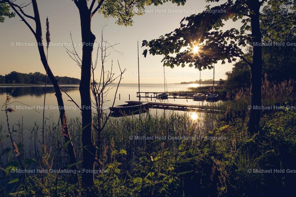 Sonnenuntergang in Seekrug | Die Badestelle Seekrug wird mit einem herrlichen Sonnenuntergang verwöhnt.