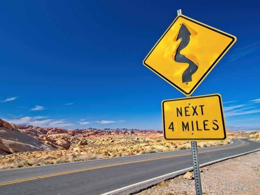 Next 4 Miles | Strasse im Valley of Fire State Park, Nevada USA