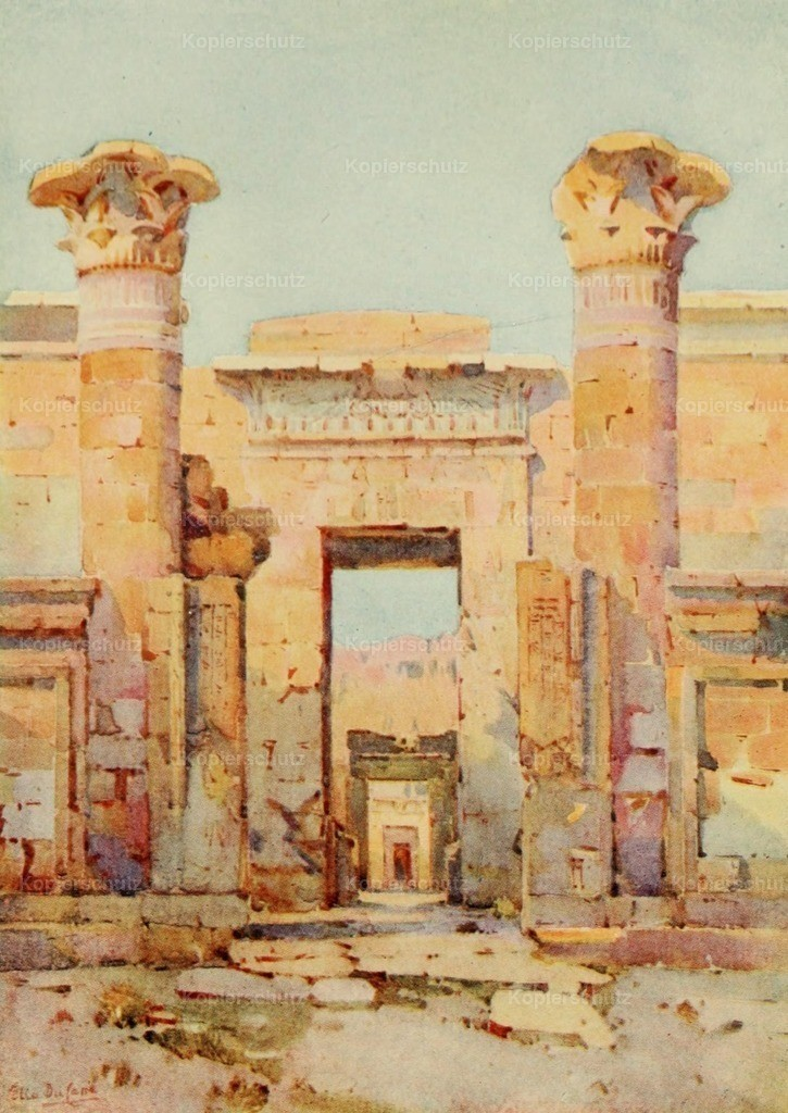 Cane_ Ella du (1874-1943) - Banks of the Nile 1913 - Medinet-Habu