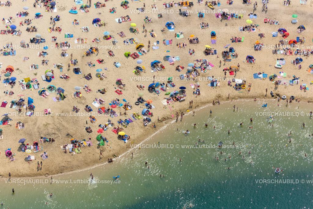 Haltern13081831 | Silbersee II aus der Luft, Sandstrand und türkisfarbenes Wasser, Luftbild von Haltern am See