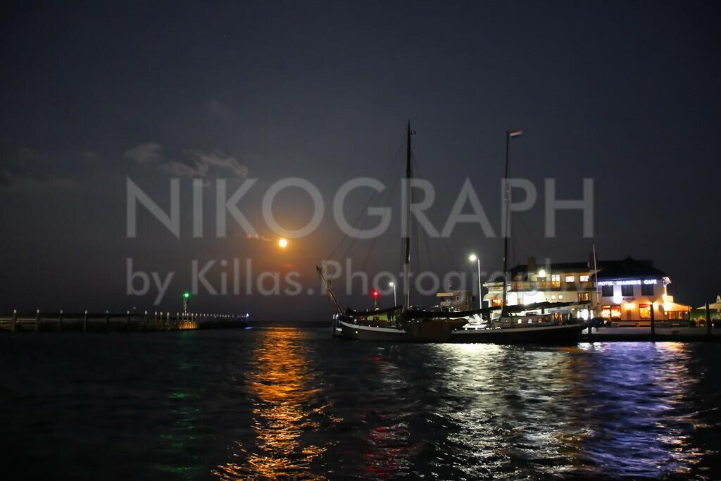 Hafen von Oudeschild | Der Hafen von Oudeschild bei Nacht.