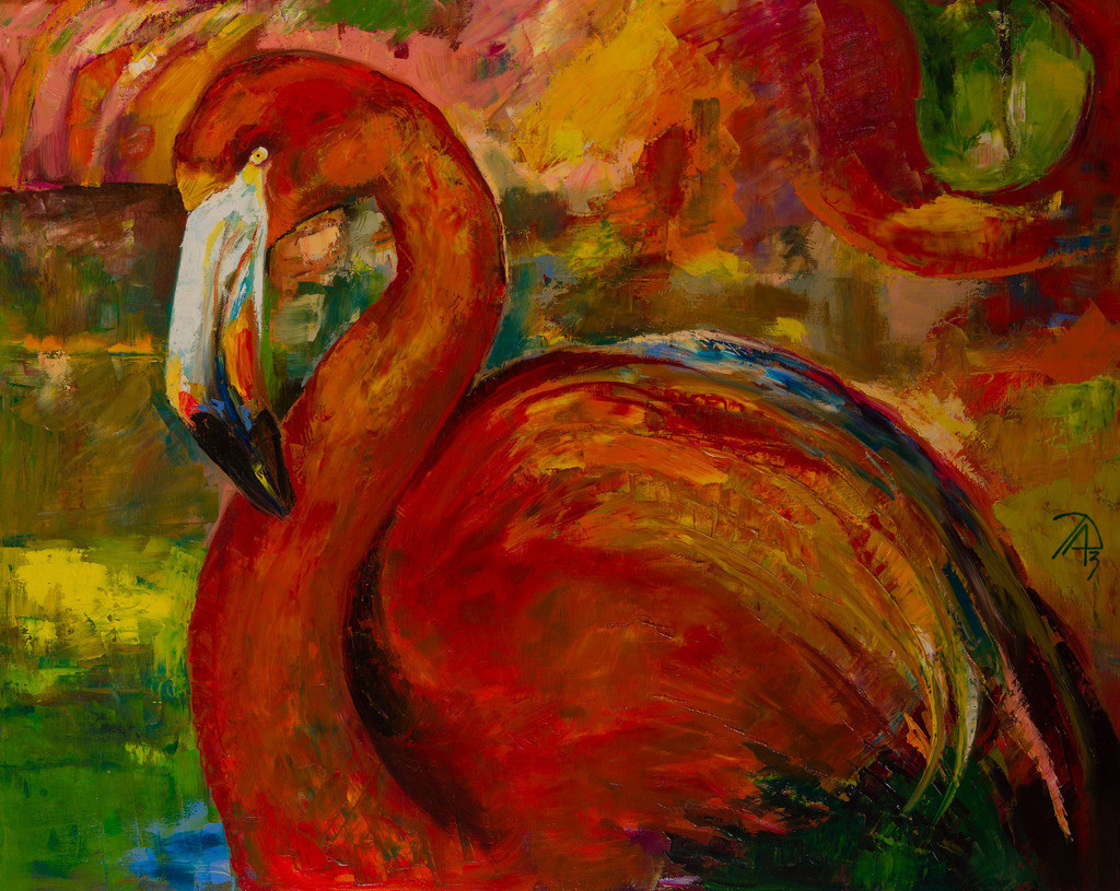 Der Flamingo | Originalformat: 80x100cm - Produktionsjahr: 2010