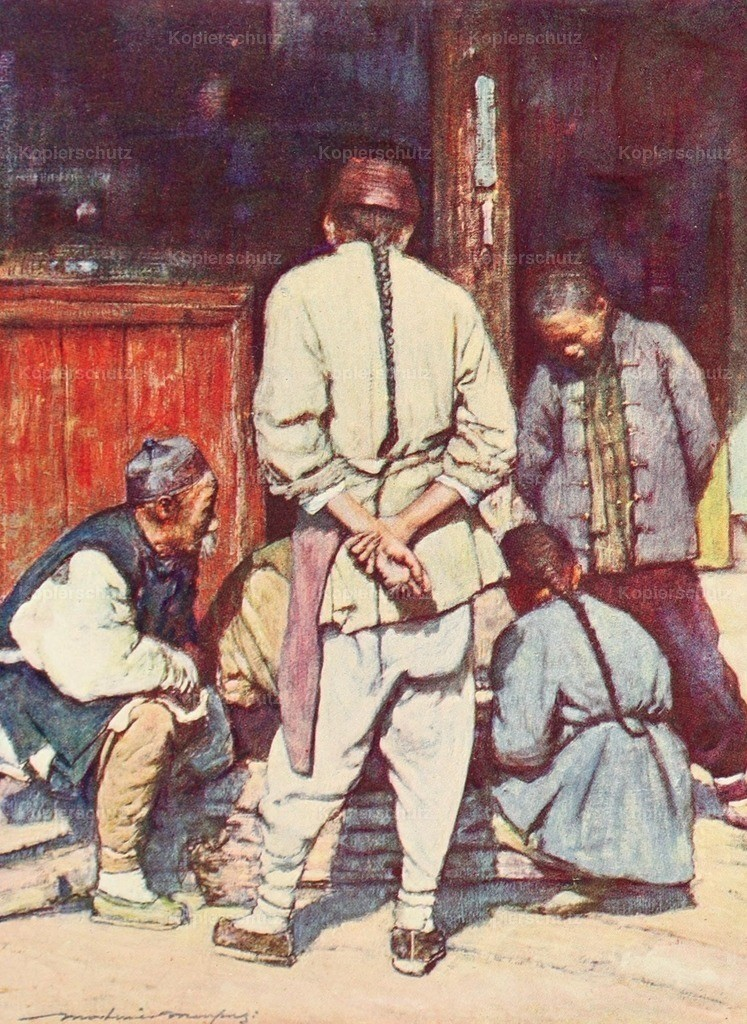 Menpes_ Mortimer (1855-1938) - China 1909 - A quiet game of draughts