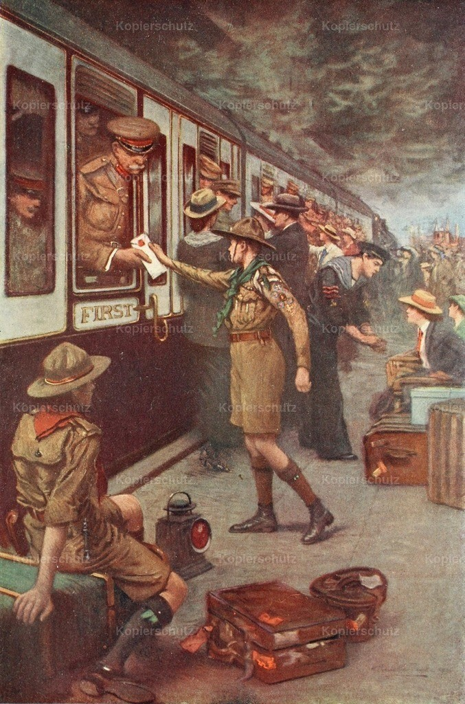Chevallier Tayler_ Albert (1862-1925) - The War 1914 - The Dispatch_ Just in Time