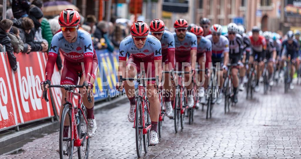 Schoten, Belgium - April 4, 2018: Scheldeprijs UCI men elite road racing event | Schoten, Belgium - April 4, 2018: Scheldeprijs UCI men elite road racing event, Photo: videomundum