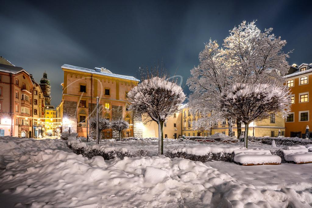 Domplatz | Schnee am Innsbrucker Domplatz