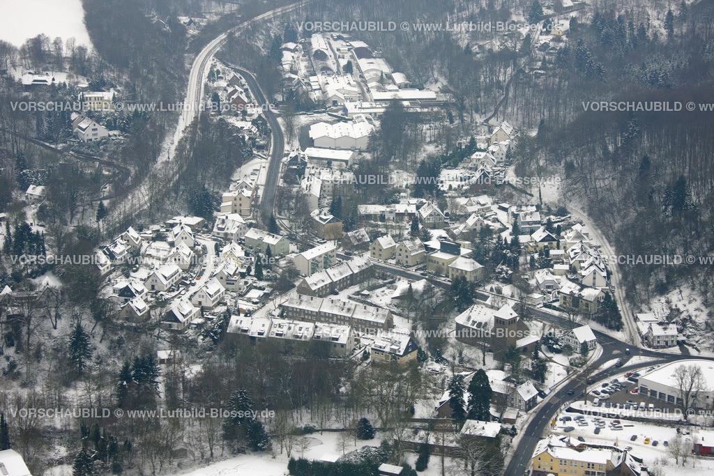 KT10011146 | Schnee,  Kettwig, Essen, Ruhrgebiet, Nordrhein-Westfalen, Deutschland, Europa, Foto: Luftbild Hans Blossey, Copyright: hans@blossey.eu, 06.01.2010, E 006° 56' 30.53