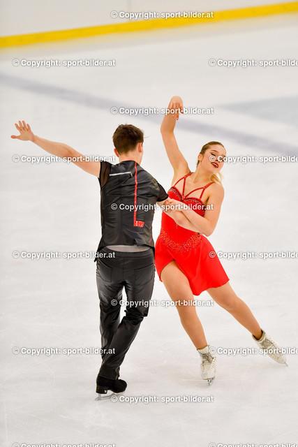 AUT, Eiskunstlaufen, Junior Grand Prix of Figure Skating 2021/2022 | 07.10.2021, Eishalle Linz, AUT, Eiskunstlaufen, Junior Grand Prix of Figure Skating 2021/2022, im Bild Sofia Val und Nikita Vitryanyuk (ESP) - Junior Ice Dance Rhythm Dance