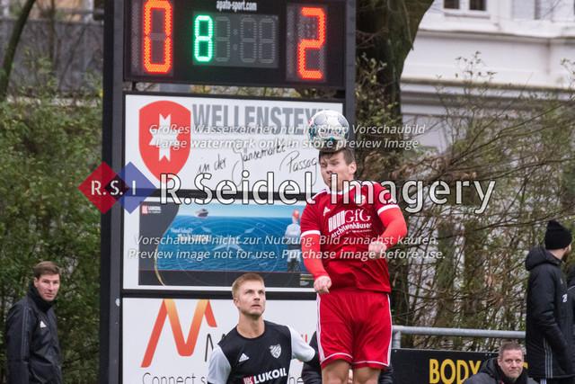 Fußball, Herren, Mercado Cup 2020, TSV Sasel (Oberliga) - FC Teutonia Ottensen 05 (Oberliga), Sportplatz Kreuzkirche, 02.02.2020 | Nick Daniel Gerken (#24, Sasel)