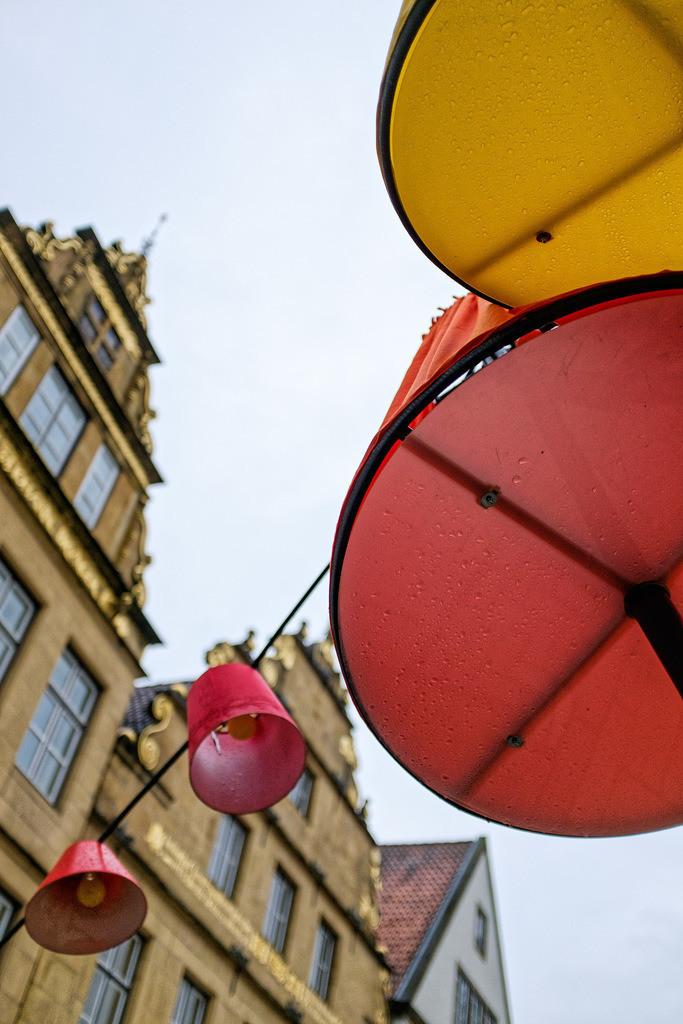 Laternen auf dem Alten Markt | Laternen auf dem Alten Markt in Bielefeld.
