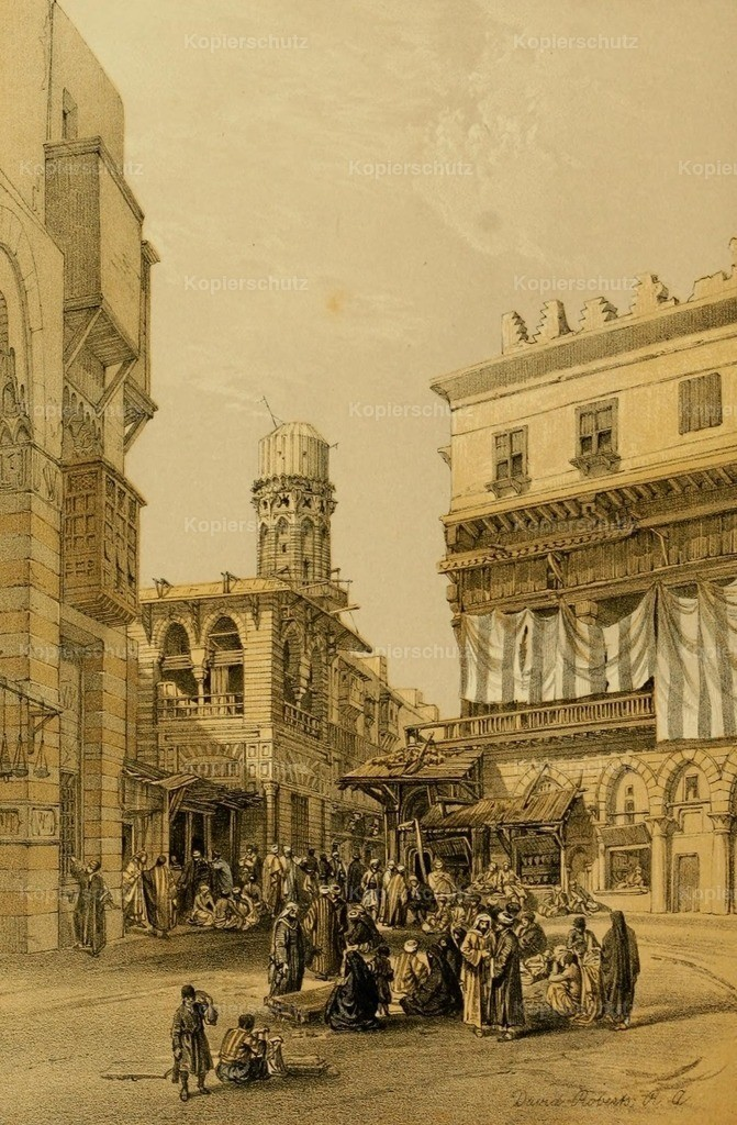 Roberts_ D. (1796-1864) - Holy Land 1855 - Bazaar of the coppersmiths_ Cairo