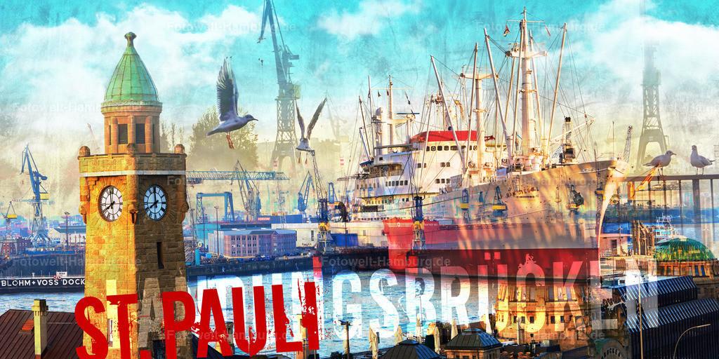 10190201 - St. Pauli Landungsbrücken Collage