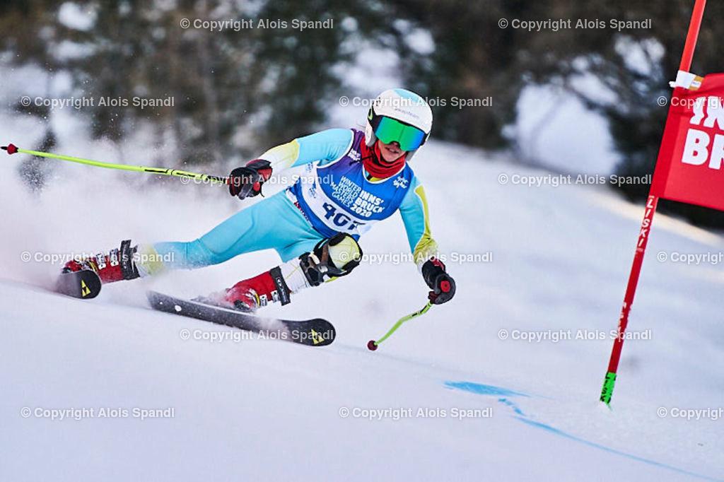 ALS6011_WWMG_GS-II_C | (C) FotoLois.com, Alois Spandl, WinterWorldMastersGames 2020 Innsbruck, Giant Slalom-II Gruppe C Damen, Patscherkofel Olympiaabfahrt, Mi 15. Jänner 2020.