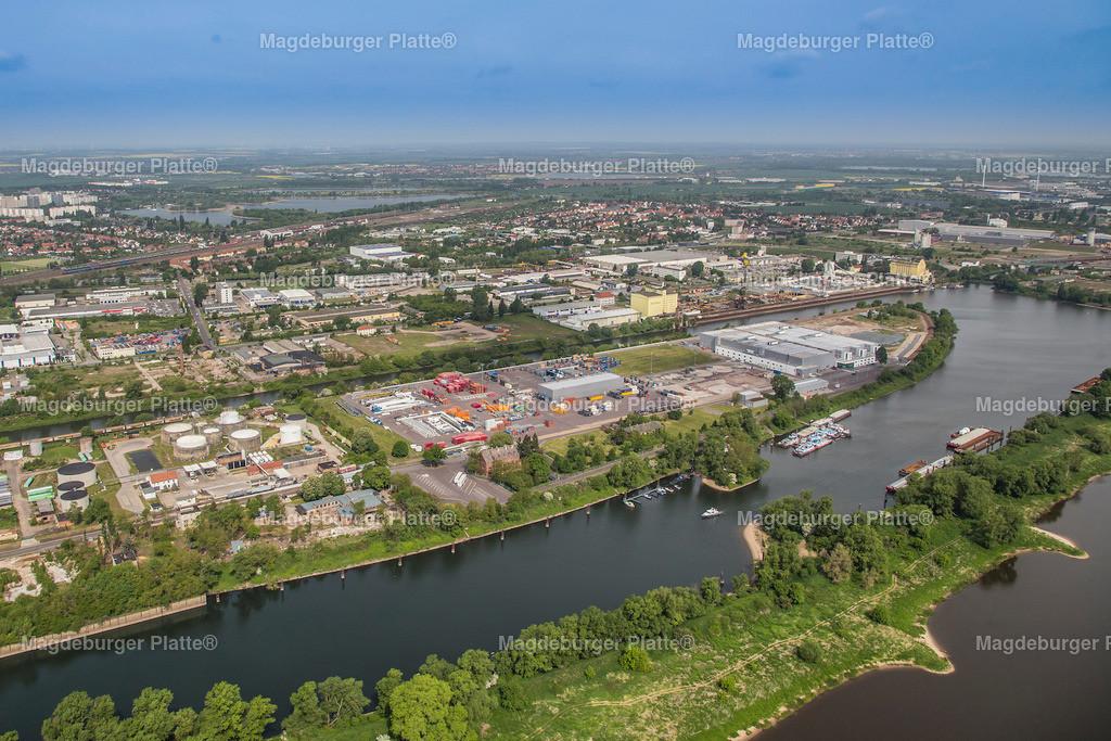 Luftbild Magdeburg Hafen Saalestraße Getreide-2060
