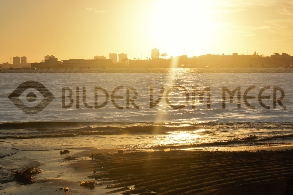 Bilder Sonnenuntergang am Meer, Spanien | Sonnenuntergang am Meer, Bilder San Pedro del Pinatar, Mar Menor