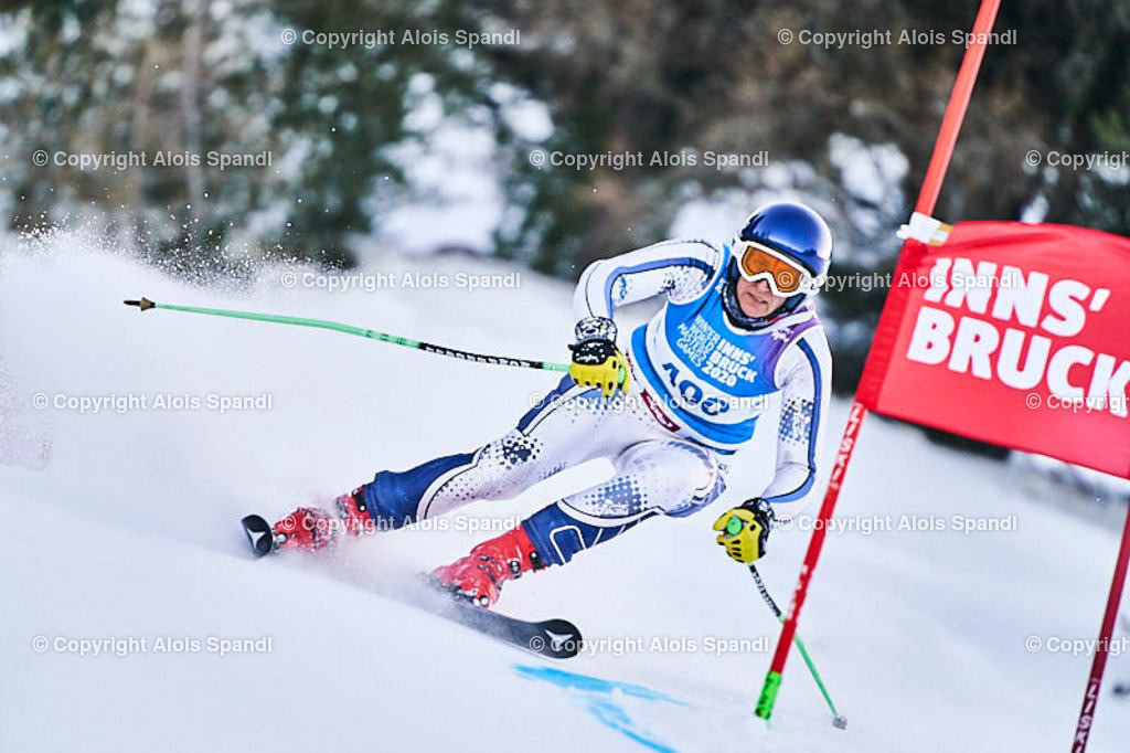 ALS5688_WWMG_GS-II_C | (C) FotoLois.com, Alois Spandl, WinterWorldMastersGames 2020 Innsbruck, Giant Slalom-II Gruppe C Damen, Patscherkofel Olympiaabfahrt, Mi 15. Jänner 2020.