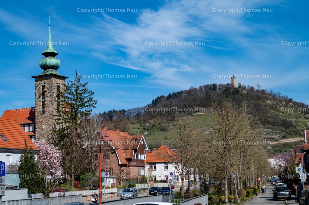 DSC_2692   Heppenheim, Blick vom Westen auf die Starkenburg und Klosterkirche der Vincentinerinnen, ,, Bild: Thomas Neu